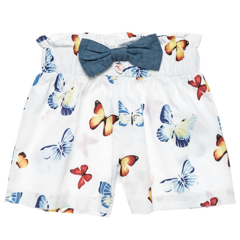 Σορτς με μοτίβο πεταλούδες και διακοσμητικό φιόγκο (2-5 ετών)