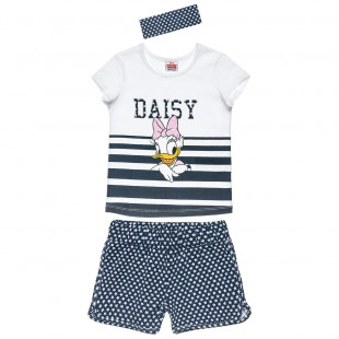 Disney Daisy Duck set top with stripes and shorts with stars (18 months-5 years)