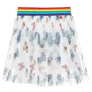 Φούστα με τούλι και σχέδια πεταλούδες (2-5 ετών)