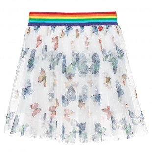 Tulle skirt with butterfly print (2-5 years)