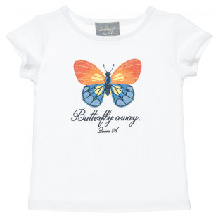Top with butterfly glitter print (2-5 years)