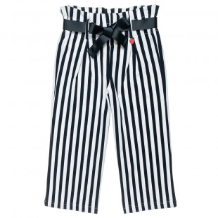Navy stripe print trousers (6-14 years)