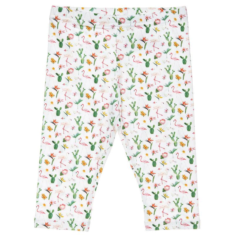Κολάν με all over μοτίβο flamingo και λουλούδια (2-5 ετών)