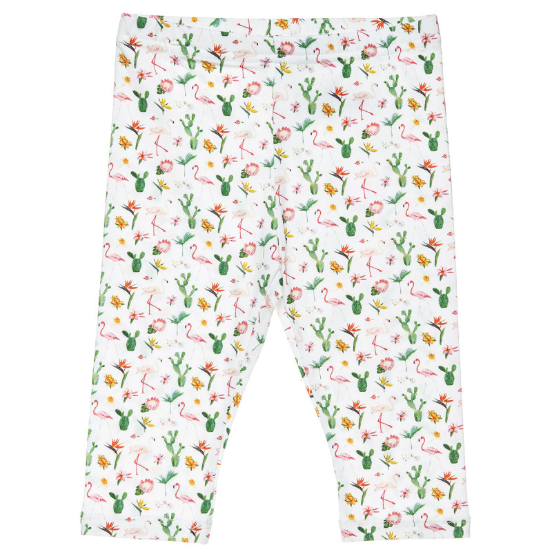 Leggings with all ober flamingo print (2-5 years)