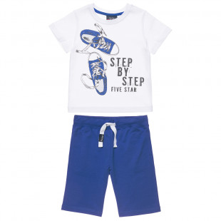 Five Star set t-shirt with sneakers design and shorts (6-16 years)