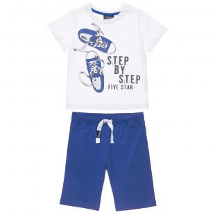 Σετ Five Star μπλούζα σχέδιο παπούτσια και βερμούδα (6-16 ετών)
