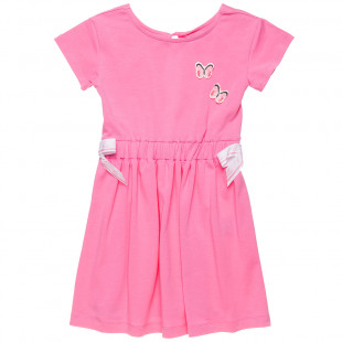 Dress with back opening and 3d butterflies (6-14 years)