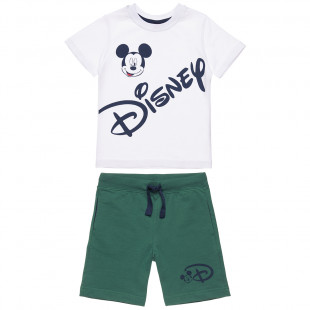 Disney Set t-shirt with Mickey Mouse print and shorts (18 μηνών-5 ετών)