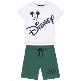 Σετ Disney μπλούζα με τύπωμα Mickey Mouse και βερμούδα (12 μηνών-5 ετών)