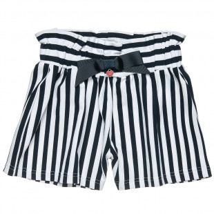 High waisted shorts with stripes (6-14 years)