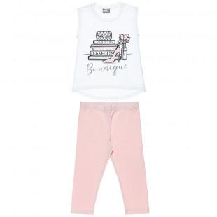 Σετ μπλούζα με glitter και κολάν (4-16 ετών)