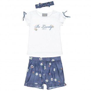 Set top with glitter detail, shorts and headband (18 months-5 years)