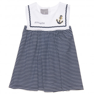 Navy look dress (9 months-5 years)