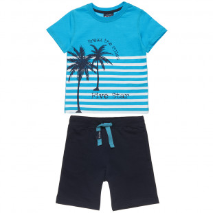 Σετ Five Star μπλούζα με τύπωμα και σορτς (12 μηνών-5 ετών)