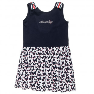 Dress with butterfly print (6-14 years)