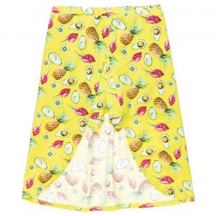 Σορτς-φούστα με all over μοτίβο φρούτα (6-14 ετών)