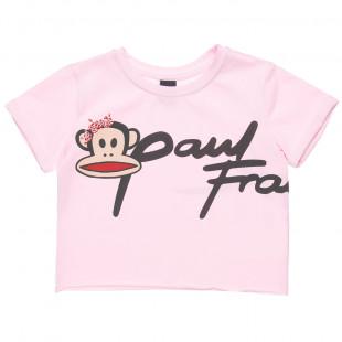 Μπλούζα Paul Frank με ρεβέρ στα μανίκια και στρας στο τύπωμα (4-16 ετών)