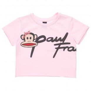 Μπλούζα Paul Frank με ρεβέρ στα μανίκια και στρας στο τύπωμα (2-5 ετών)