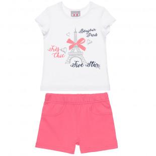 Σετ Five Star μπλούζα με glitter λεπτομέρεια και σορτς (12 μηνών-5 ετών)