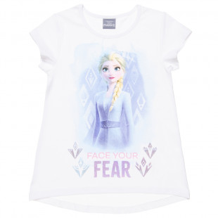 Disney Frozen top with glitter detail (6-12 years)