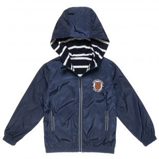 Double sided waterproof jacket with embroidery (6-16 years)