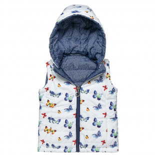 Double sided vest jacket with butterfly pattern (12 months-5 years)