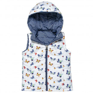 Double sided vest jacket with butterfly pattern (6-14 years)