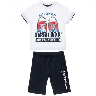 Σετ Moovers μπλούζα με βερμούδα (6-16 ετών)