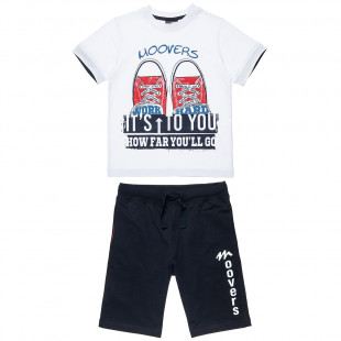 Set Moovers t-shirt with shorts (18 months-5 years)