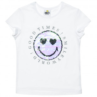 Top Smiley with double sequin (6-14 years)