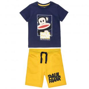 Σετ Paul Frank μπλούζα με τύπωμα και βερμούδα (12 μηνών-5 ετών)