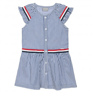 Dress with stripes and buttons fastenings  (6-16 years)