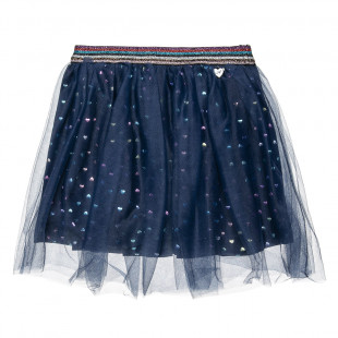 Skirt with tulle and pattern hearts (2-5 years)