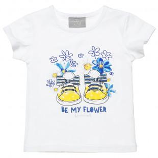Μπλούζα με τύπωμα και glitter (12 μηνών-5 ετών)
