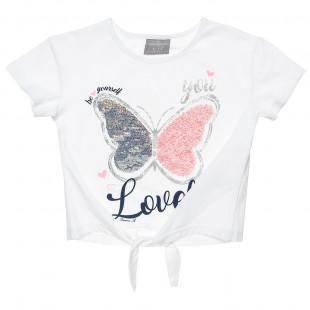 Μπλούζα με παγιέτες και glitter (12 μηνών-5 ετών)