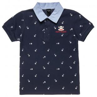 Μπλούζα polo Paul Frank με κέντημα και μοτίβο (12 μηνών-5 ετών)