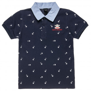 T-Shirt polo Paul Frank with embroidery and pattern (12 months-5 years)