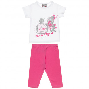 Set Five Star top with glitter detail and leggings (18 months-5 years)