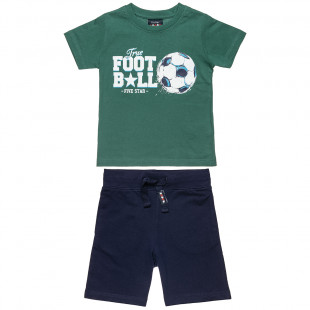 Set Five Star t-shirt with print and shorts (6-14 years)