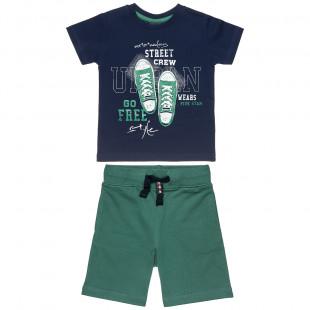 Σετ Five Star μπλούζα με τύπωμα και βερμούδα (6-16 ετών)