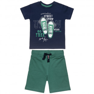 Set Five Stars t-shirt with print and shorts (6-16 years)