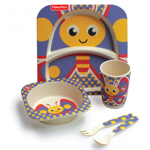 Set Fisher Price 5pcs butterfly print (6 months+)