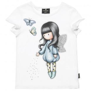 Μπλούζα Santoro με πεταλούδες και glitter (6-14 ετών)