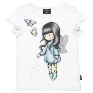 Top Santoro with butterflies print and glitter detail (6-14 years)