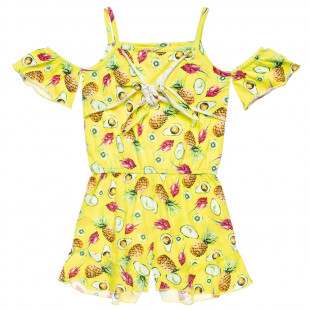 Playsuit shoulder cut-out and pineapple design (6-14 years)