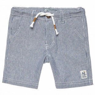 Shorts with stripes and pockets (12 months-5 years)
