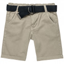 Shorts chinos with belt (12 months-5 years)