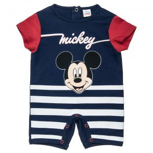 Φορμάκι Disney Mickey Mouse με ρίγες (1-9 μηνών)