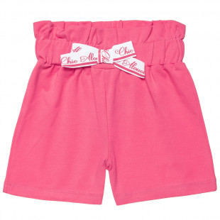 Shorts high-waisted with bow (12 months-5 years)