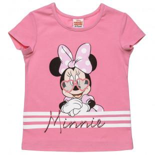 Μπλούζα Disney Minnie Mouse με glitter λεπτομέρεια (12 μηνών-5 ετών)
